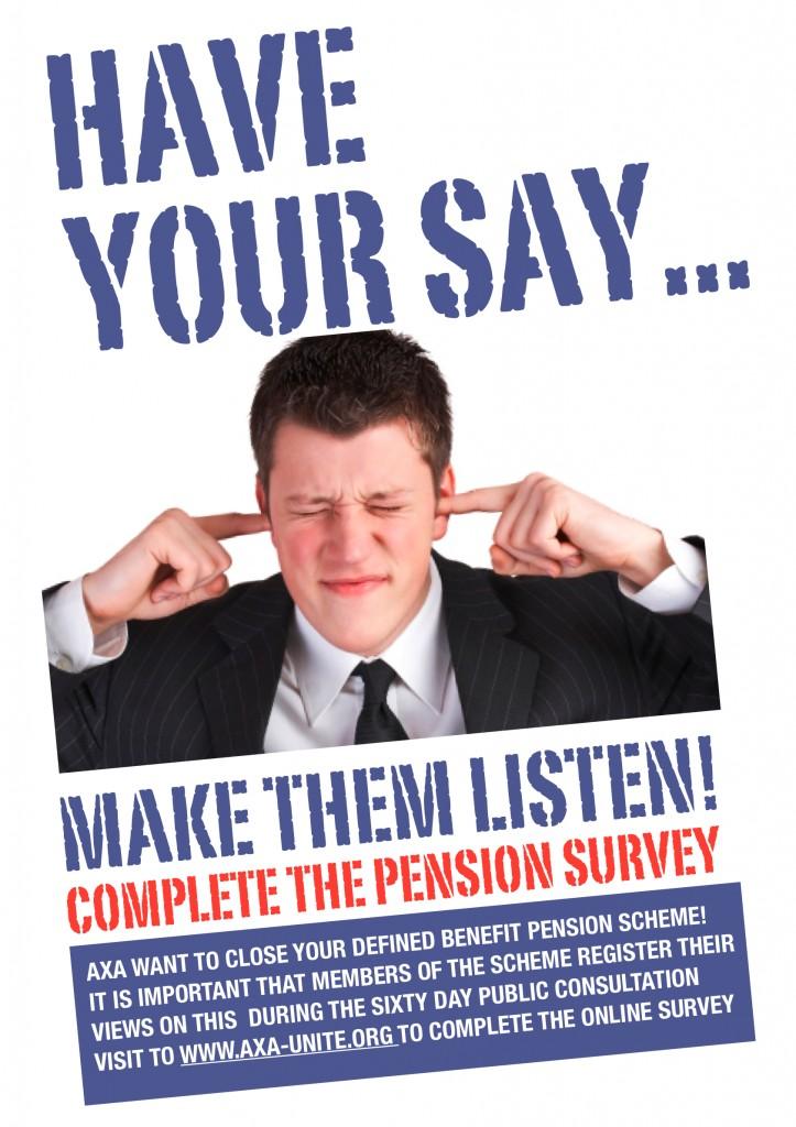 Pension Survey Poster